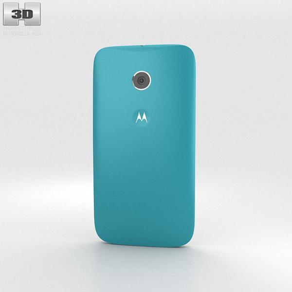 Motorola Moto E Turquoise & White 3d model