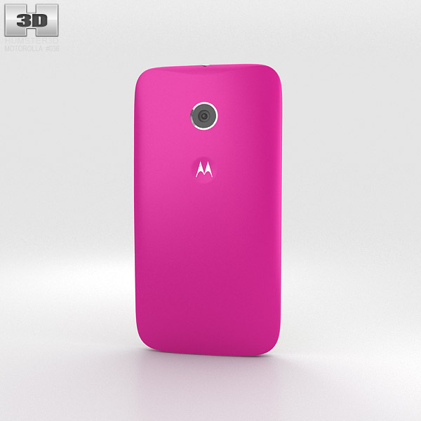 Motorola Moto E Raspberry & White 3d model