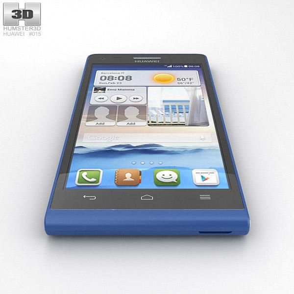 huawei ascend g6 blue 3d model hum3d