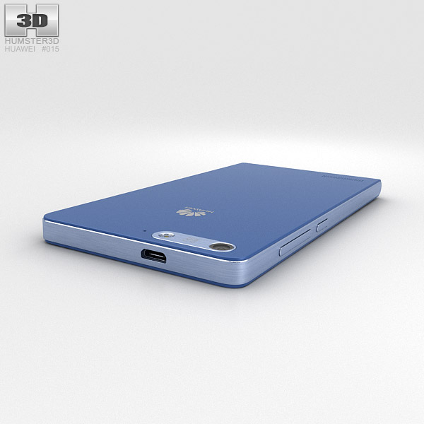 huawei ascend g6 blue 3d model hum3d
