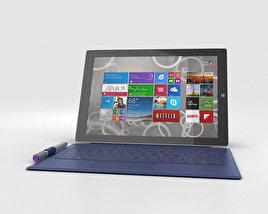 Microsoft Surface Pro 3 Blue Cover 3D model