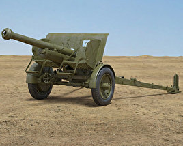 Type 90 75 mm Field Gun 3D model