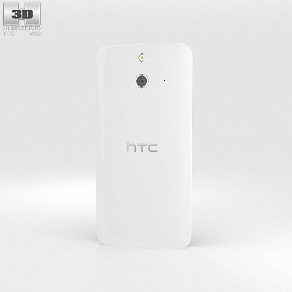 HTC One (E8) White 3d model