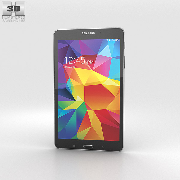 Samsung Galaxy Tab 4 8.0-inch Black 3d model