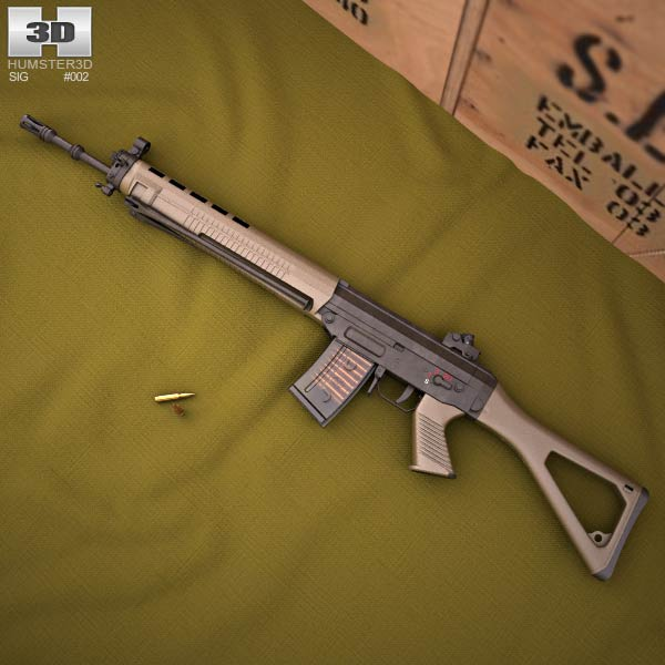 SIG SG 550 3d model