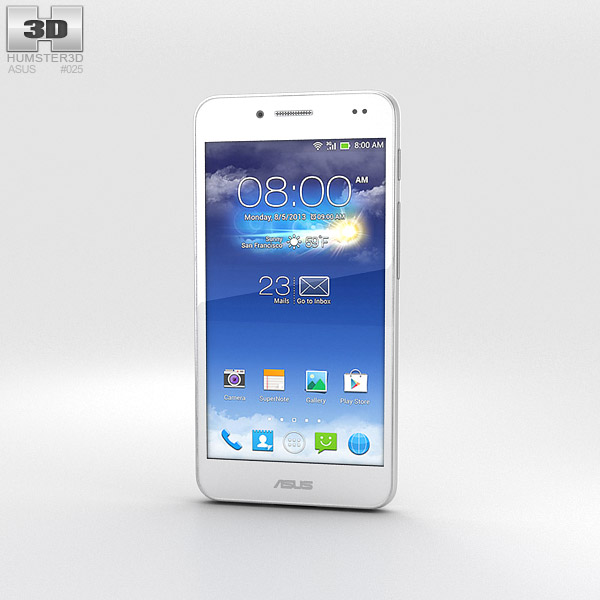 Asus PadFone X Platinum White 3d model
