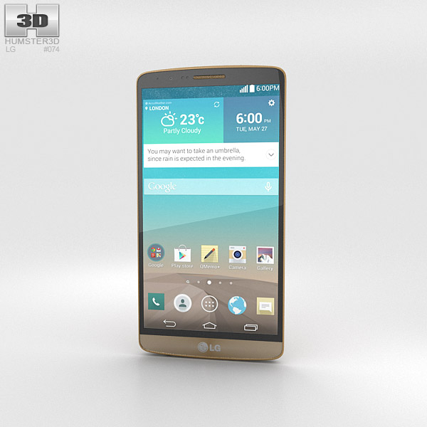 LG G3 Shine Gold 3d model