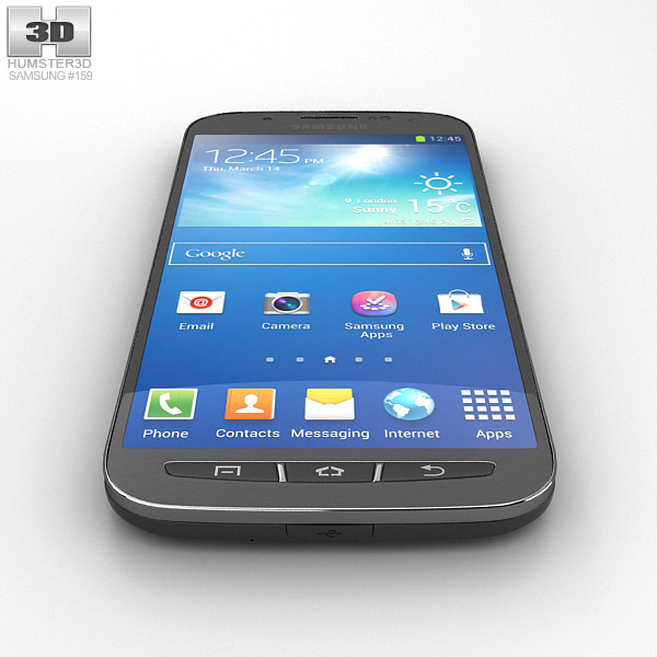 Samsung Galaxy S4 Active Urban Grey 3D model
