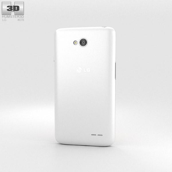 LG L65 White 3d model
