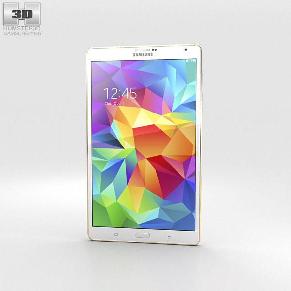 Samsung Galaxy Tab S 8.4-inch Dazzling White 3d model