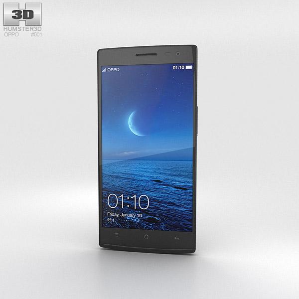 Oppo Find 7 Black 3d model