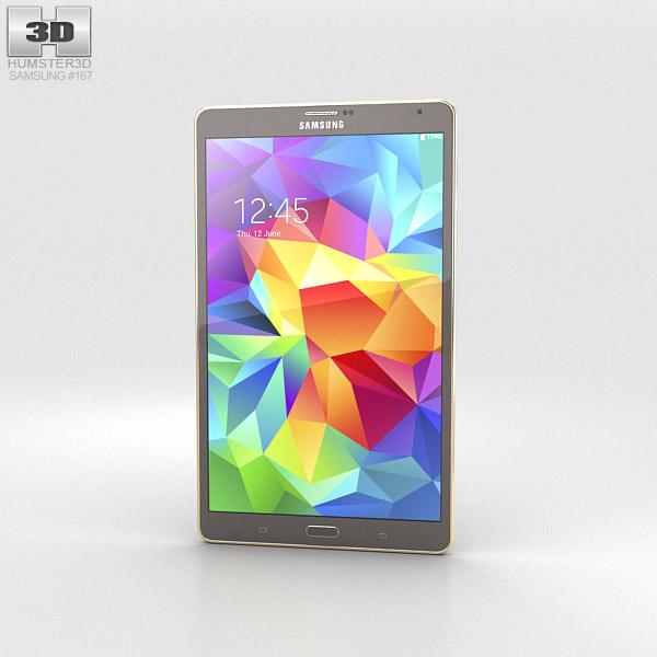 Samsung Galaxy Tab S 8.4-inch Titanium Bronze 3d model