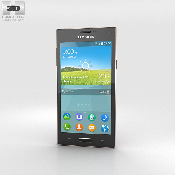 Samsung Z Black/Brown 3d model