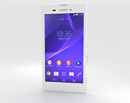 Sony Xperia T3 White 3D model