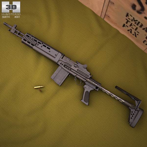 Mk 14 Enhanced Battle Rifle 3d model