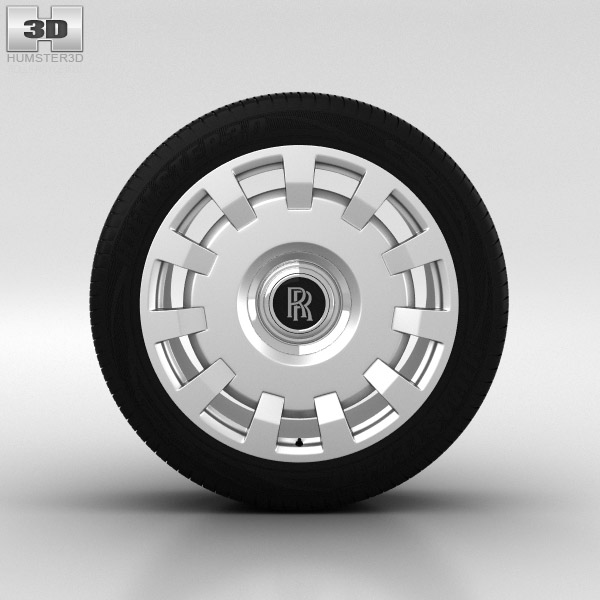 Rolls-Royce Ghost Wheel 20 inch 002 3d model