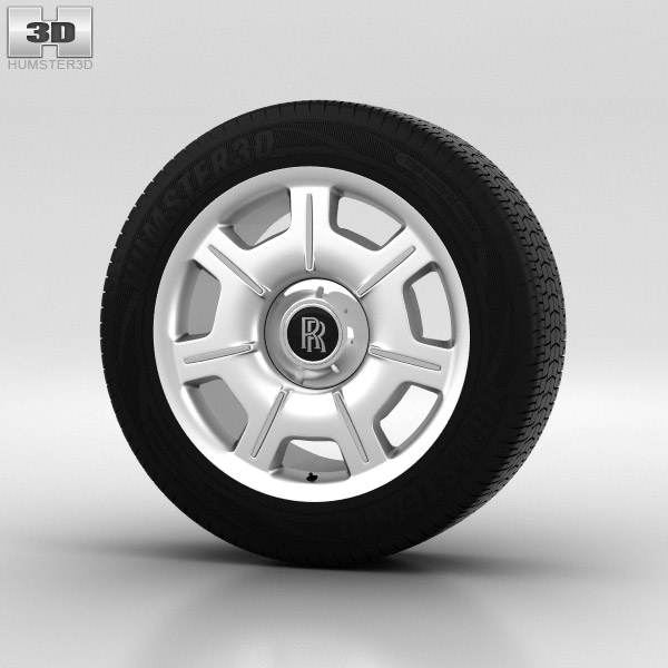 Rolls-Royce Phantom Wheel 21 inch 001 3d model