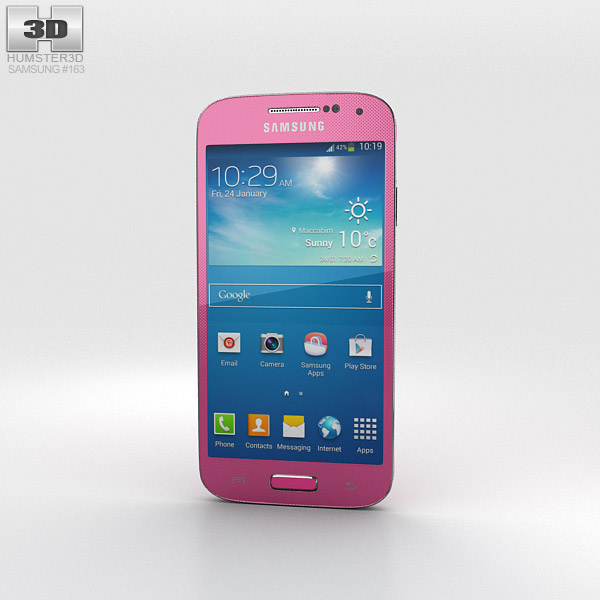 Samsung Galaxy S4 Mini Pink 3d model