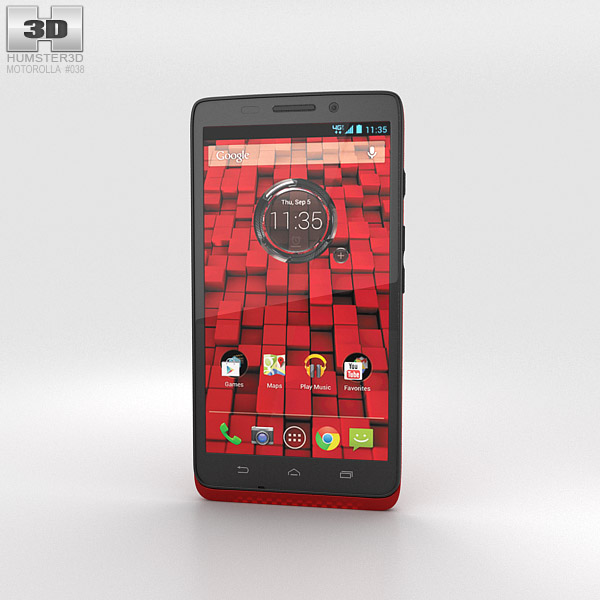 Motorola Droid Maxx Red 3d model
