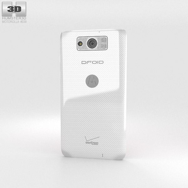 Motorola Droid Maxx White 3d model