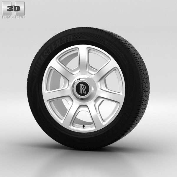 Rolls-Royce Phantom Wheel 21 inch 002 3d model