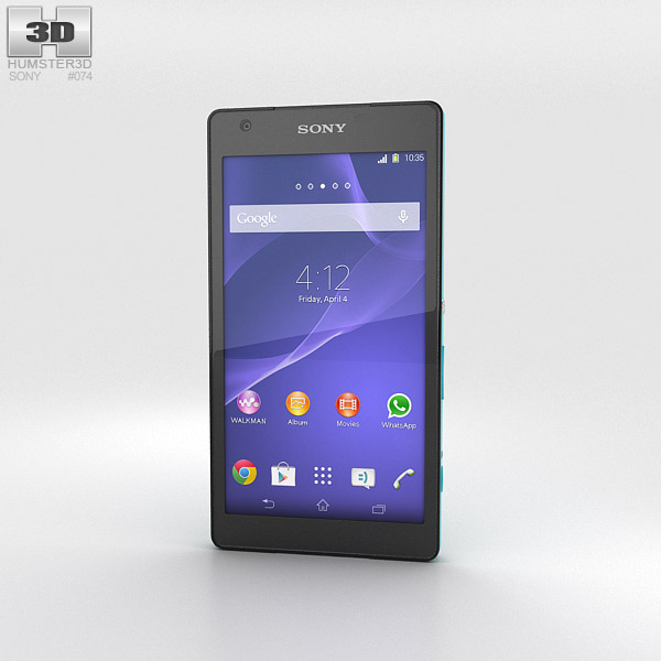 Sony Xperia Z2a Turquoise 3d model