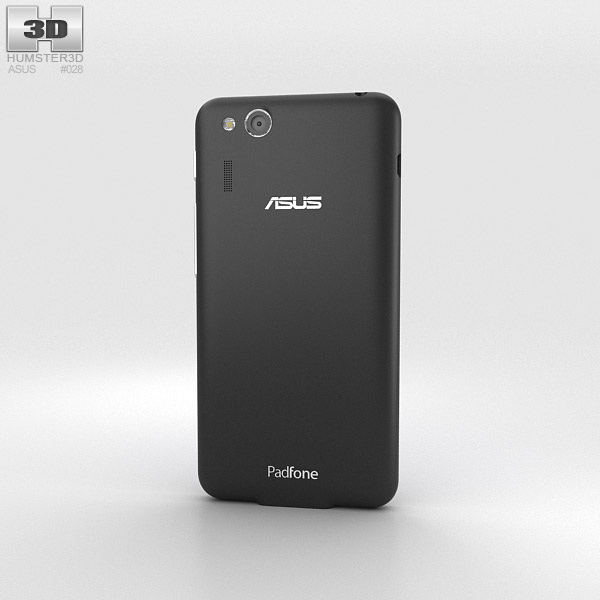 Asus PadFone Mini 4.3-inch Titanium Black 3d model