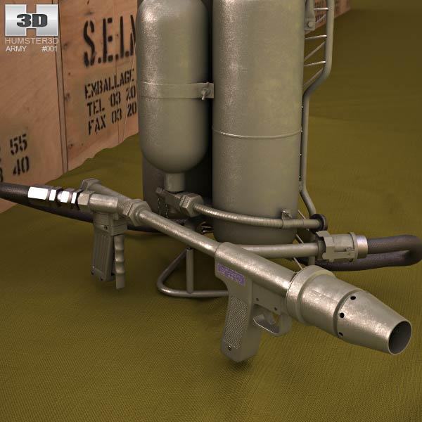 M2 Flamethrower 3d model