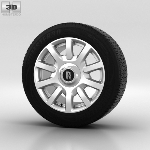 Rolls-Royce Phantom Wheel 21 inch 004 3d model