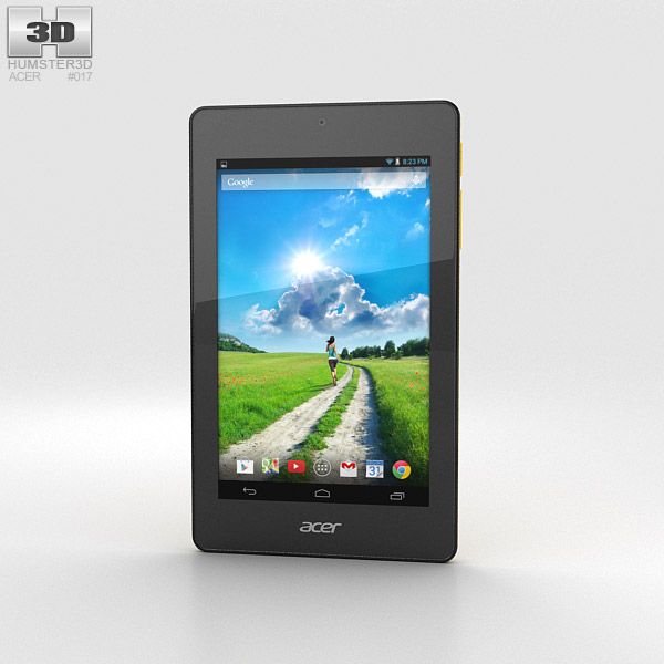 Acer Iconia One 7 B1-730 Yellow 3d model