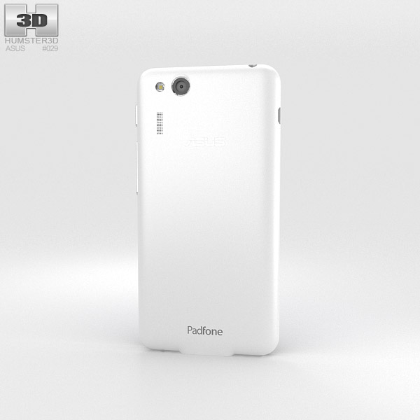 Asus PadFone Mini 4.3-inch Platinum White 3d model