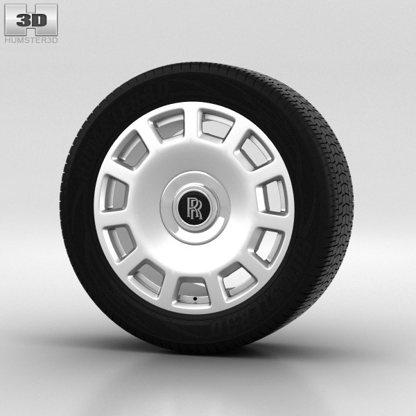 Rolls-Royce Phantom Wheel 21 inch 005 3d model