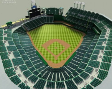 How we made a Coors Field ballpark stadium 3D model