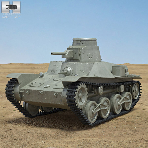 Type 95 Ha-Go 3d model