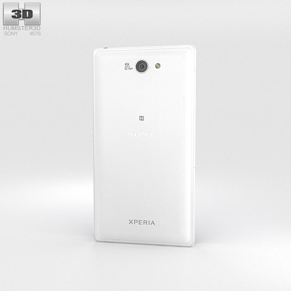 Sony Xperia Z2a White 3d model