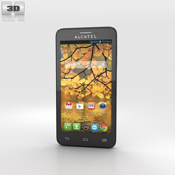 Alcatel One Touch Fierce Silver 3d model