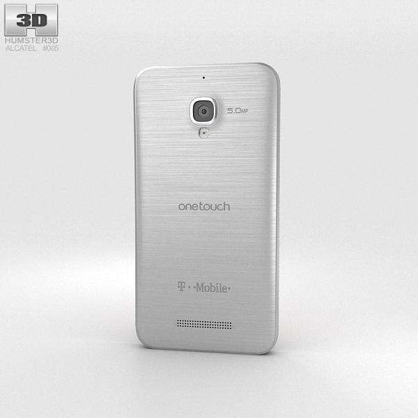 Alcatel One Touch Fierce Silver 3d model