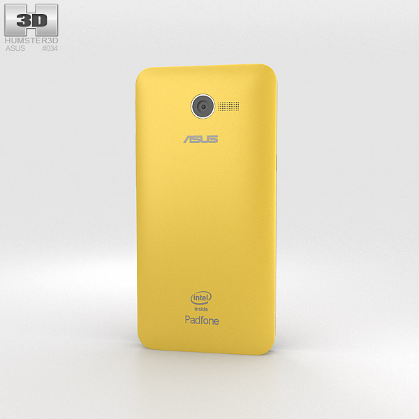 Asus Zenfone 4 Solar Yellow 3d model