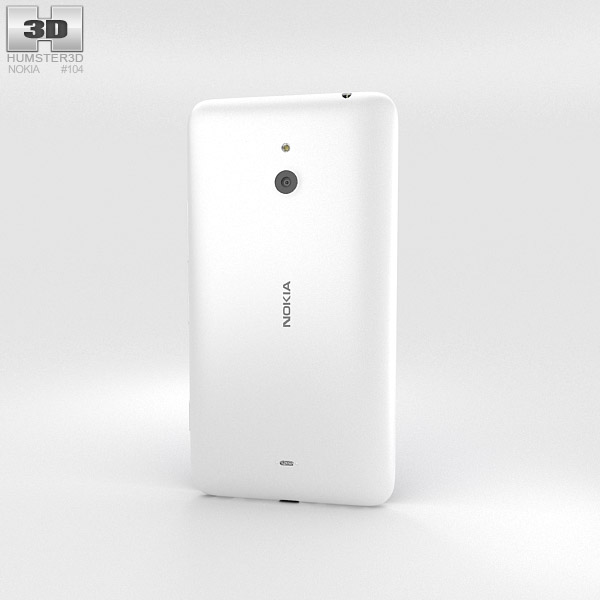 Nokia Lumia 1320 White 3d model