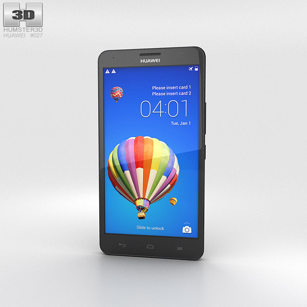 Huawei Honor 3X G750 Black 3d model