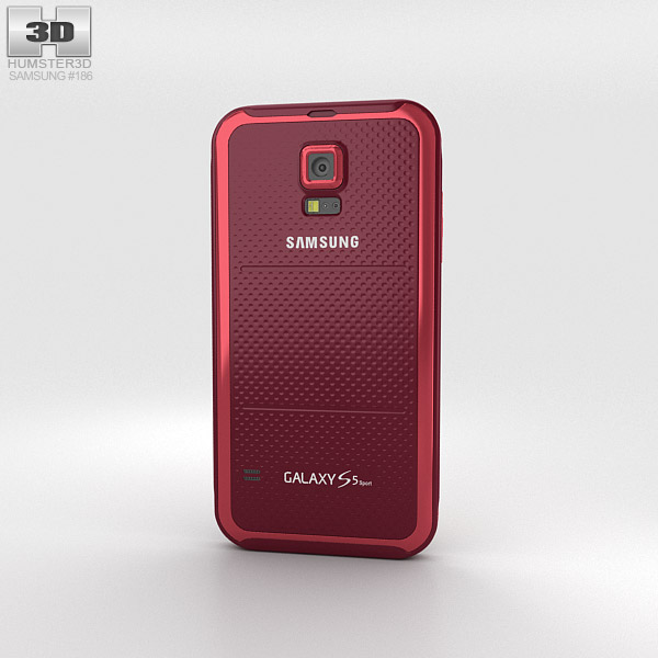 Samsung Galaxy S5 Sport Cherry Red 3d model