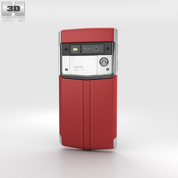 Vertu Signature Touch Claret Leather 3d model