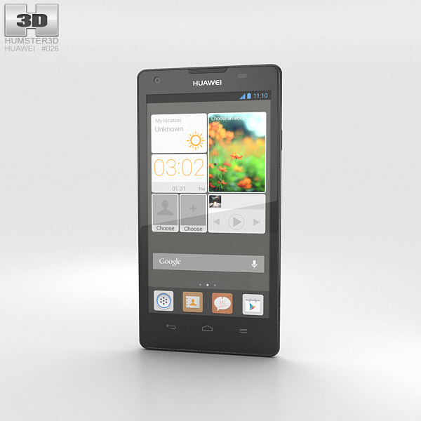 Huawei Ascend G700 White 3d model