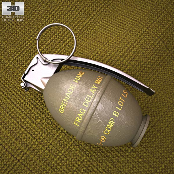 M26 Grenade 3d model