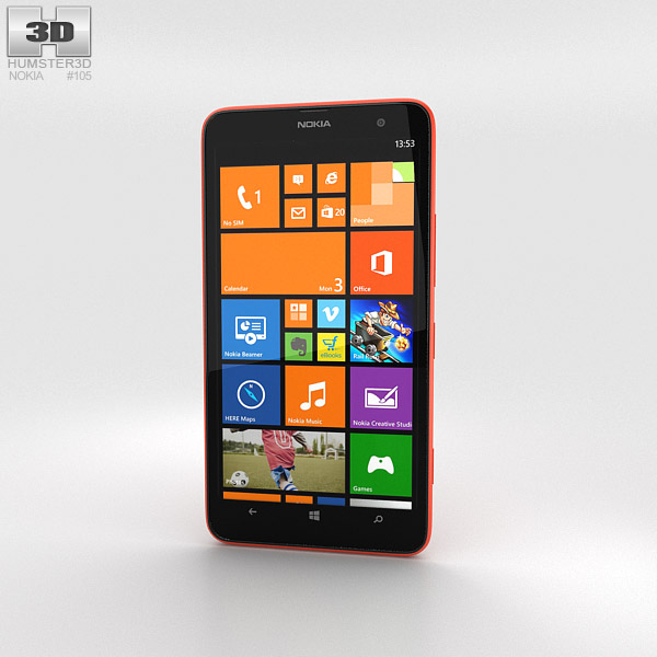 Nokia Lumia 1320 Red 3d model