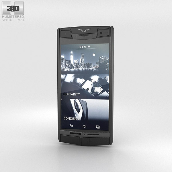 Vertu Signature Touch Pure Jet Leather 3d model