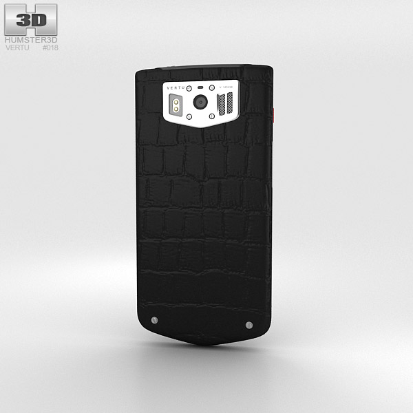 Vertu Constellation 2013 Black Alligator 3d model