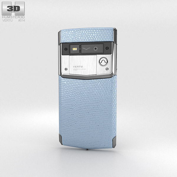 Vertu Signature Touch Seaspray Lizard 3d model