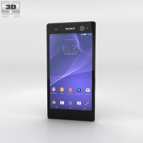 Sony Xperia C3 Black 3d model