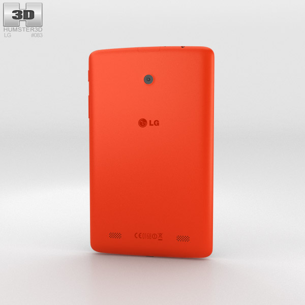 LG G Pad 7.0 Luminous Orange 3d model